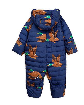 Mini Rodini Tuta Termica Invernale Imbottita Ducks, Blu - 100% Tessuto Riciclato Tutine Termiche