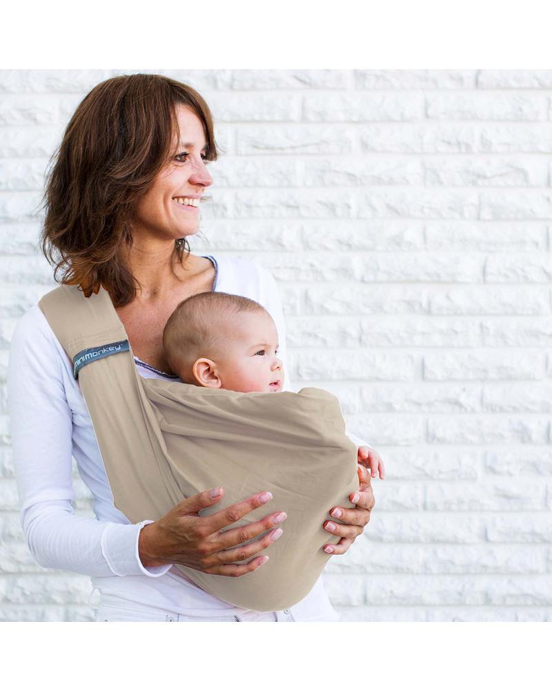 Minimonkey fascia porta b b 4 in 1 100 cotone sabbia - Fascia porta bebe prezzi ...