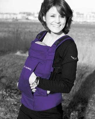 Minimonkey Marsupio Ergonomico 100% Cotone - Viola - 4 in 1 (dalla nascita, leggerissimo e no mal di schiena!) (dalla nascita, leggerissimo e no mal di schiena!) Marsupi