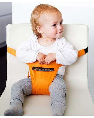Minimonkey Minichair - Arancio - Seggiolino Universale da Tavolo - Sta anche in borsa! Seggiolini Da Viaggio