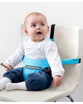 Minimonkey Minichair - Azzurro - Seggiolino Universale da Tavolo - Sta anche in borsa! Seggiolini Da Viaggio