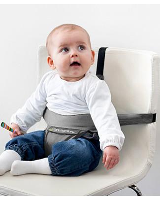 Minimonkey Minichair - Grigio - Seggiolino Universale da Tavolo - Sta anche in borsa! Seggiolini Da Viaggio