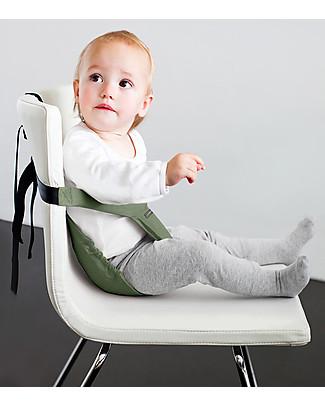 Minimonkey Minichair - Verde Salvia - Seggiolino Universale da Tavolo - Sta anche in borsa! Seggiolini Da Viaggio