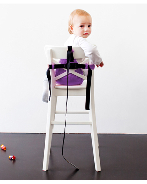Minimonkey minichair viola seggiolino universale da tavolo sta anche in borsa unisex bambini - Seggiolini da tavolo cam ...