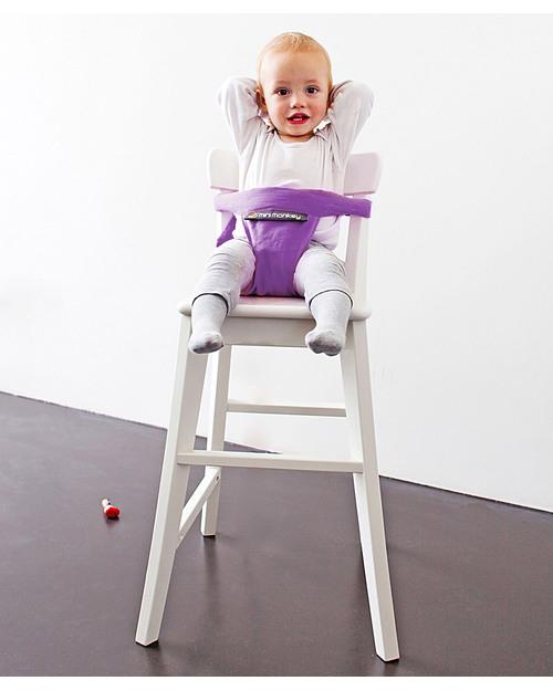 Minimonkey minichair viola seggiolino universale da tavolo sta anche in borsa unisex bambini - Seggiolino da tavolo prezzi ...