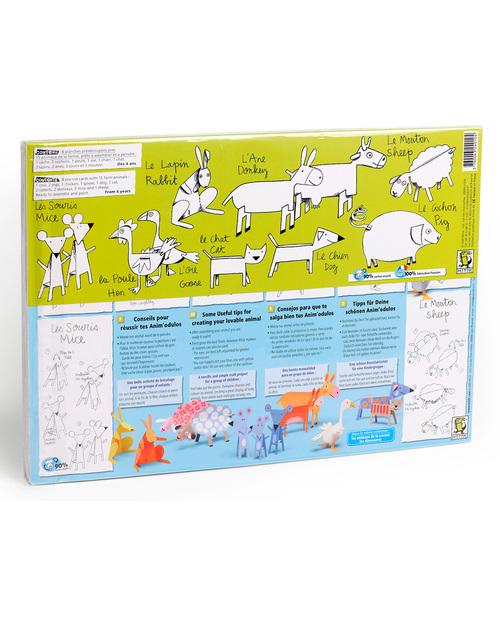 Mitik Animali della Fattoria - Cartoncino 90% Riciclato Carta e Cartone