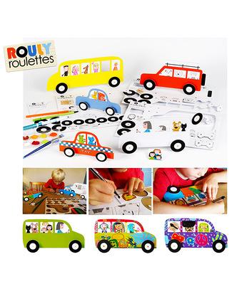 Mitik Autovetture Rouly Roulettes - Cartone Riciclato (da montare e colorare!) Carta e Cartone