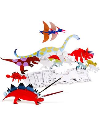 Mitik Dinosauri Dinodulos - Cartone Riciclato (da montare e colorare!) Carta e Cartone