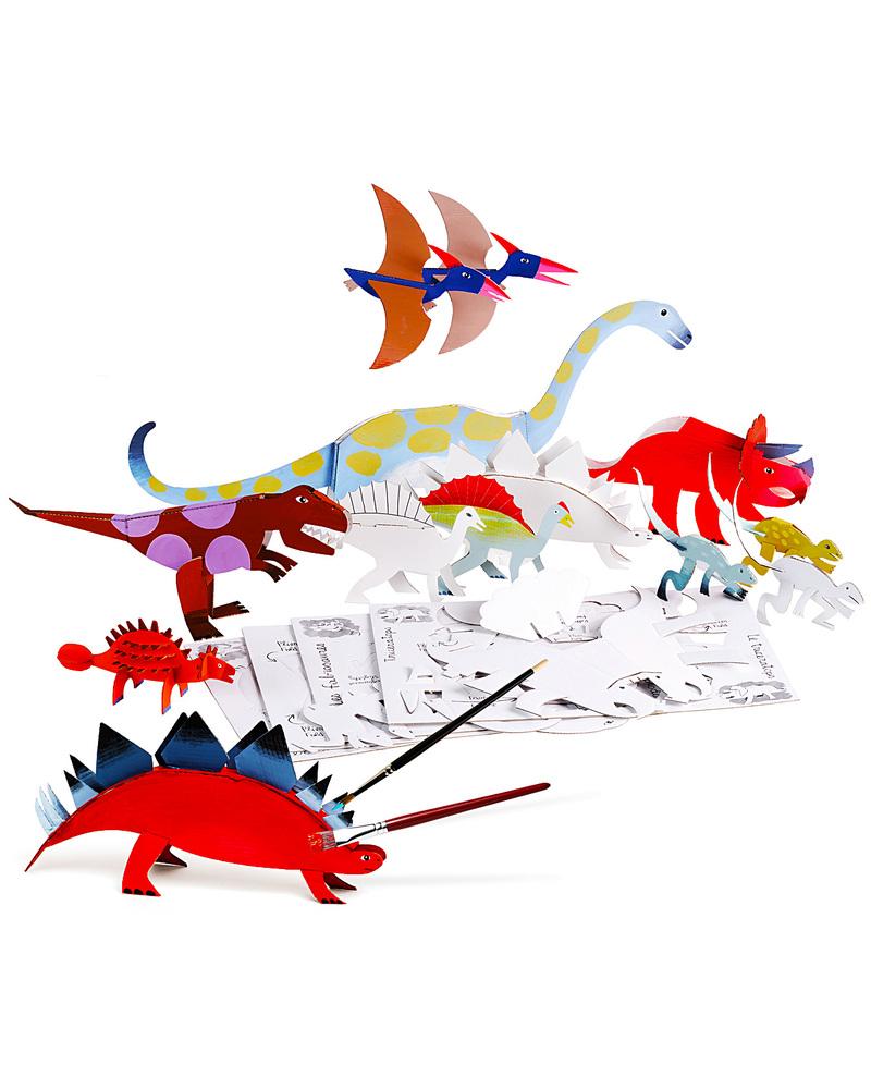 Mitik dinosauri dinodulos cartone riciclato da montare