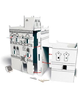 Mitik Le Case dell'Asia - Cartoncino 90% Riciclato (da montare senza bisogno di colla o forbici!) Carta e Cartone