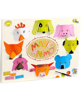 Mitik Mascherine MaskAnimo - Cartone Riciclato (da colorare e personalizzare!) Carta e Cartone