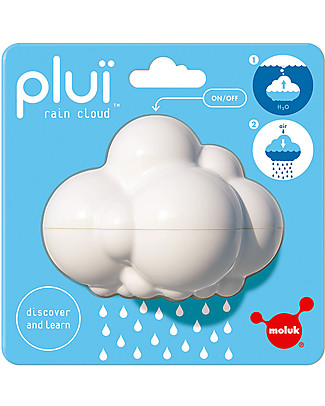 Moluk Nuvola della Pioggia Pluï Rain Cloud- Bianco – Gioco per il Bagnetto (senza BPA, ftalati, lattice)  Giochi Bagno