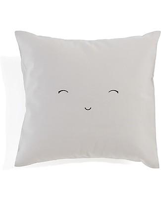 Motomo Cuscino Baby Smiling - 30x30 cm 100% Cotone Bio Cuscini