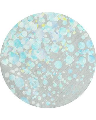 """Motomo Set baby copripiumino e cuscino """"Petali"""", Azzurro - 70x100 cm - Cotone bio Copripiumino e Federe"""
