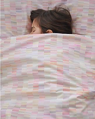 """Motomo Set bimbi copripiumino e cuscino """"Pastelli"""", Rosa - 150x200 cm - Cotone bio Copripiumino e Federe"""