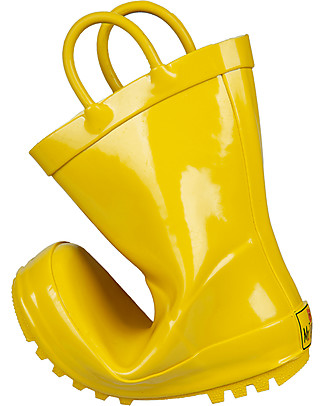 Mr.Tiggle Stivali da Pioggia in Gomma, Foderati in Cotone - Giallo Stivali Pioggia