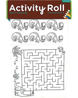 Mudpuppy Rotolo di Attività, Possenti Dinosauri - Carta riciclata! Colorare