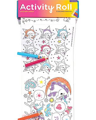 Mudpuppy Rotolo di Attività, Unicorno Magico - Carta riciclata! Colorare