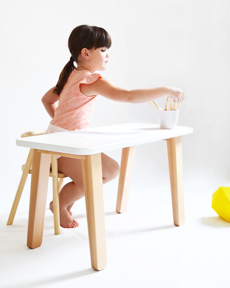 mum and dad factory tavolo scrivania per bambini - bianco unisex ... - Scrivania In Legno Per Bambini
