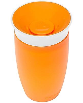 """Munchkin Bicchiere Antigoccia """"Impara a Bere""""  Miracle® 360°, 300 ml - Arancione Tazze e Bicchieri"""