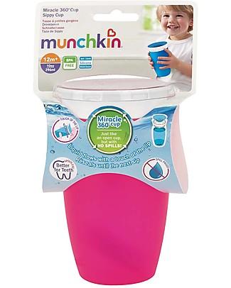 "Munchkin Bicchiere Antigoccia ""Impara a Bere""  Miracle® 360°, 300 ml - Rosa Tazze e Bicchieri"