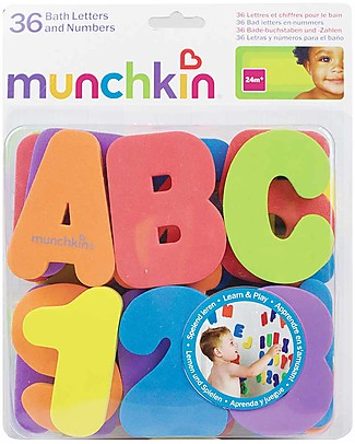 Munchkin Lettere e Numeri in Schiuma per il Bagnetto, Set da 36 - Completamente atossici! Giochi Creativi