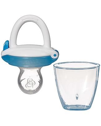 Munchkin Succhietto Dosatore Anti-Soffocamento con Cappuccio Prime Pappe e Puree – Azzurro Ciucci