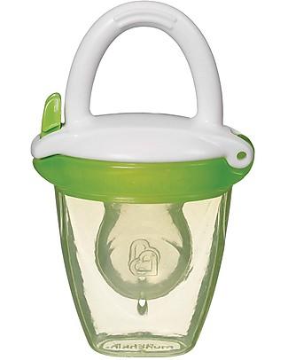 Munchkin Succhietto Dosatore Anti-Soffocamento con Cappuccio Prime Pappe e Puree – Verde Ciucci