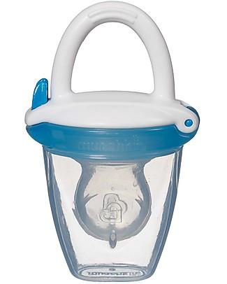 Munchkin Succhietto Dosatore Anti-Soffocamento con Cappuccio Prime Pappe e Puree - Azzurro Ciucci