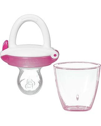 Munchkin Succhietto Dosatore Anti-Soffocamento con Cappuccio Prime Pappe e Puree - Rosa Ciucci