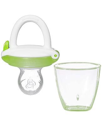 Munchkin Succhietto Dosatore Anti-Soffocamento con Cappuccio Prime Pappe e Puree - Verde Ciucci