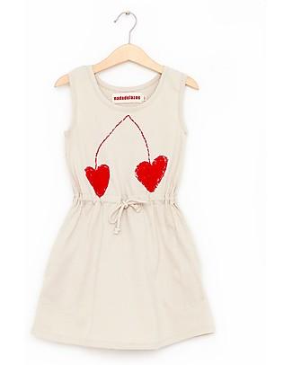 Nadadelazos Abito T-shirt Bimba, Ciliegia - 100% jersey di cotone bio Vestiti