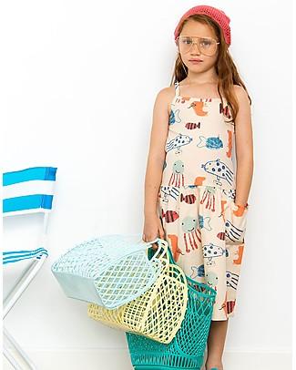 Nadadelazos Abito T-shirt Bimba, Pesci del Mar Mediterraneo - 100% voile di cotone bio Vestiti