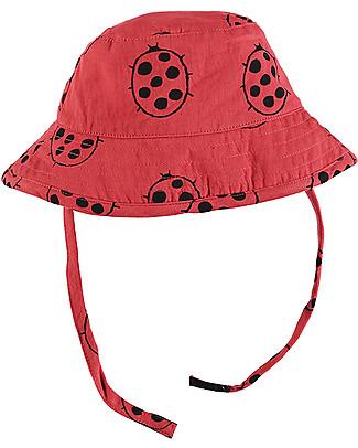 Nadadelazos Cappellino Estivo Parasole, Coccinella - 100% cotone Cappelli Estivi