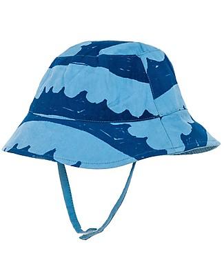 Nadadelazos Cappellino Estivo Parasole, Onde nel Blu - 100% cotone bio Cappelli Estivi