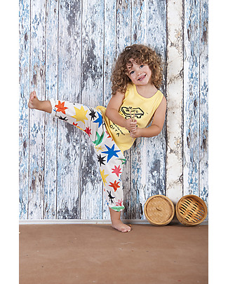 Nadadelazos Pantalone Unisex, Hoshi - 100% voile di cotone bio Pantaloni Lunghi