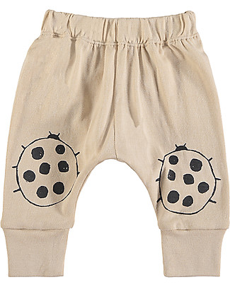 Nadadelazos Pantaloni Lunghi Estivi Baby, Coccinella Nera - 100% cotone bio Leggings