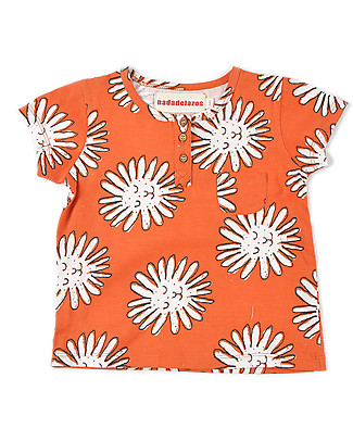 Nadadelazos T-Shirt con Bottoncini, Little Dandelion - 100% jersey di cotone bio T-Shirt e Canotte