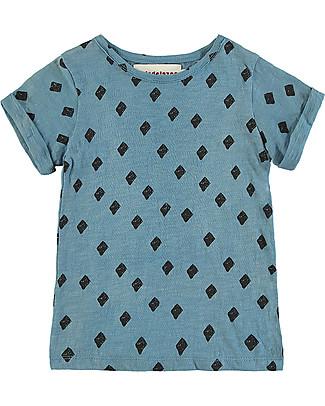 Nadadelazos T-shirt con Maniche Arrotolate, Mini Rombo - 100% cotone bio T-Shirt e Canotte