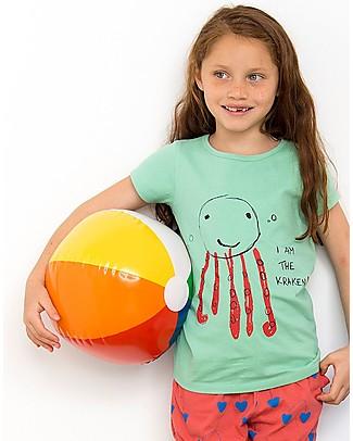 Nadadelazos T-shirt Kraken la Piovra - 100% jersey di cotone bio T-Shirt e Canotte