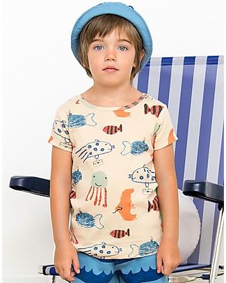 Nadadelazos T-shirt Pesci del Mar Mediterraneo - 100% jersey di cotone bio T-Shirt e Canotte