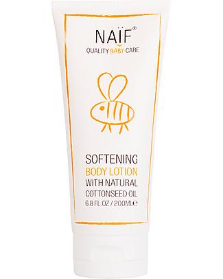 NAIF Baby Care Crema Idratante Naturale Corpo Baby all'Olio di semi di Cotone – Senza SLS/SLES, Parabeni, Oli Minerali o PEG Creme e Olii