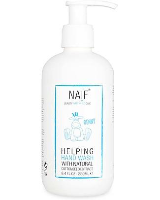 NAIF Baby Care Helping Hand Wash, Sapone Mani – Senza SLS/SLES, Parabeni, Oli Minerali o PEG Bagno Doccia Shampoo