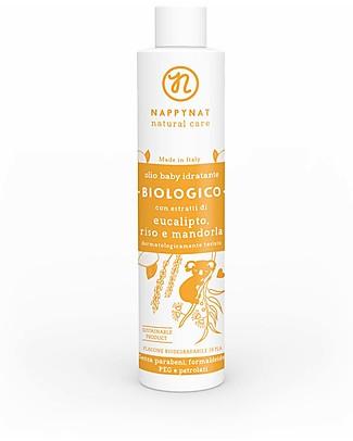 Nappynat Olio Idratante Biologico Eucalipto Riso e Mandorla - 150 ml Creme e Olii