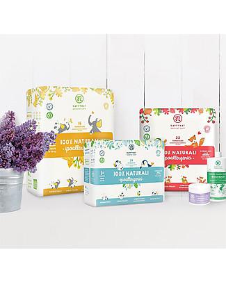 Nappynat Pannolini Monouso Biodegradabili Fantasia Cocomeri, Taglia Maxi 3+, 20 pezzi - 8-16 Kg Pannolini Biodegradabili