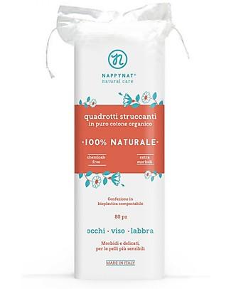 Nappynat Quadrotti Struccanti, 80 pz - 100% cotone bio Viso