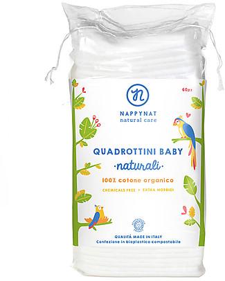 Nappynat Quadrottini Baby, 60 pz – 100% cotone bio Salviette