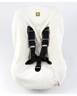 Nati Naturali Copriseggiolino Auto (9-18Kg) - Bianco - 100% Spugna di Cotone Naturale Accessori Seggiolini Auto
