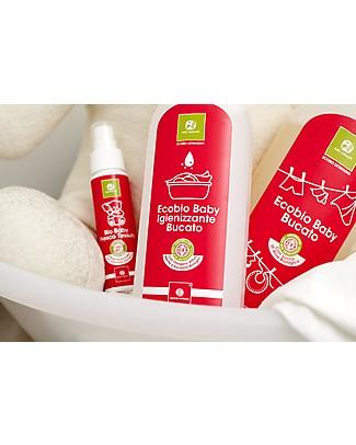 Nati Naturali Ecobio Baby Bucato, 1000 ml - Lavaggio a mano e in lavatrice, delicato sulla pelle sensibile! Detergenza