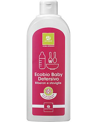 Nati Naturali Ecobio Baby Detersivo per Biberon e Stoviglie, 500 ml - Delicato sulla pelle sensibile! Detergenza
